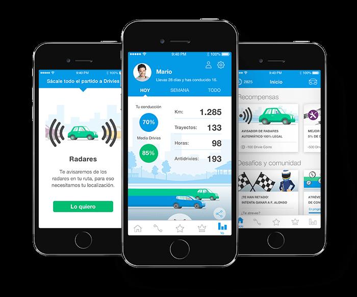 aplicaciones para conductores